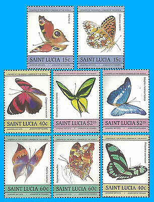 Saint Lucia Stamp, SLC105 Butterfly, Insect, Bird, Nature, Animal