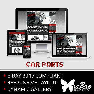 Professional eBay 2017 Auction Listing Template 26 CARS New Responsive Design
