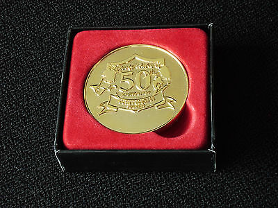 MANCHESTER UNITED BUSBY BABES 50th ANNIVERSARY MEDAL - C/W BOX