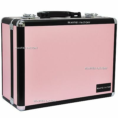 BF Large Space Pink Beauty Make up Nail Tech Cosmetic Box Vanity Case 854