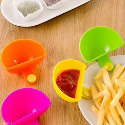 2Pcs Dip Clips Kitchen Bowl Kit Tool Small Dishes Spice Clip For Salt Vinegar...