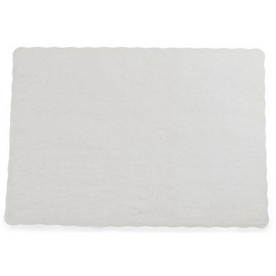 """10"""" x 14"""" Scalloped Edge Economy Off-White Paper Placemat 1000/CS - FAST Ship"""