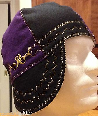 Black and Purple Crown Royal Welding Caps Made in U.S.A. Any Size, IBEW