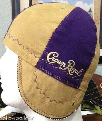 Tan and Purple Crown Royal Welding Caps Made in U.S.A. Any Size IBEW