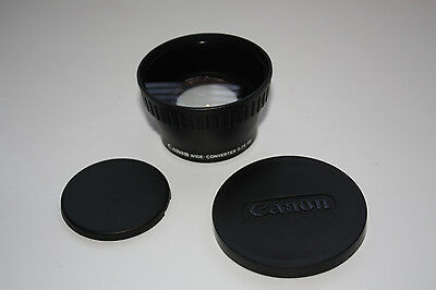 Canon wide-converter WD-46  0.7x 46 with Two Caps Excelent Condition