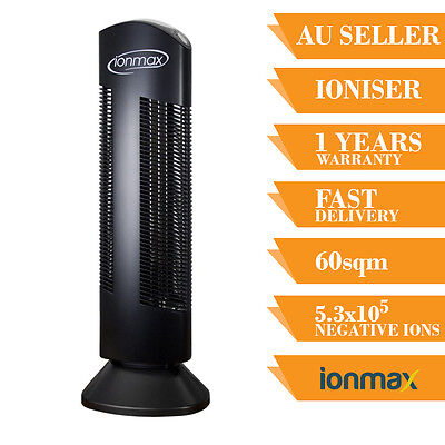 Ionmax Ion401 Ionic Home Air Purifier Filter Tower Ion Office Room Ioniser Black
