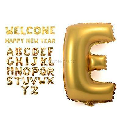 Hot A-Z/0-9 Letter/Number Foil Balloon Inflate Wedding Birthday Party Decoration
