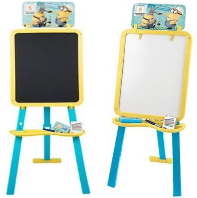 Despicable Me Minion Double Sided Floor Standing Art Easel Blackboard Whiteboard