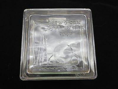 World's Fair Souvenir Bank - 1940 New York, Corning Glass, Glass Center