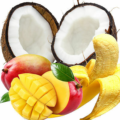 BANANA COCONUT & MANGO Bath Body & Massage Oil EXTRA STRONG TRIPLE SCENTED