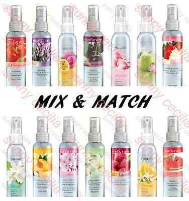 2 x AVON Naturals Fragrance Spritz, Room Linen Body Spray, Freshener MIX & MATCH