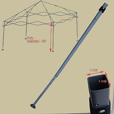 Coleman Ozark Trail 10u0027 x 10u0027 Canopy EXTENDED ADJUSTABLE LEG Replacement Parts & COLEMAN OZARK Trail 12u0027x12 10x10 Canopy Gazebo Truss Connector ...