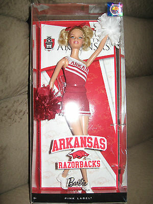 Barbie University of Arkansas Cheerleader Doll 2011 MIB