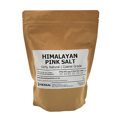 HIMALAYAN PINK SALT | 1KG BAG | COARSE | 100% Natural | Food/Cosmetic