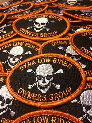 """Harley-Davidson Dyna Low Rider Owners Group 3"""" x 2"""" Patch!  FREE SHIP WORLDWIDE!"""