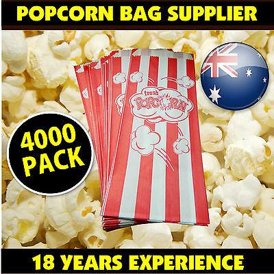 Popcorn Bags 4000 PACK Fetes Events Cinema Suit all pop corn machines popping