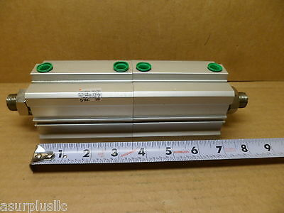 Smc Cdq2B50-50+50Dm-Xc10 Pneumatic Double Cylinder 2 Rods 145 Psi   Nos