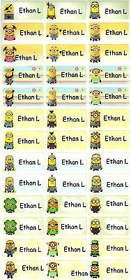 Personalized Waterproof Name labels stickers, 36 Minion ,day care,school,