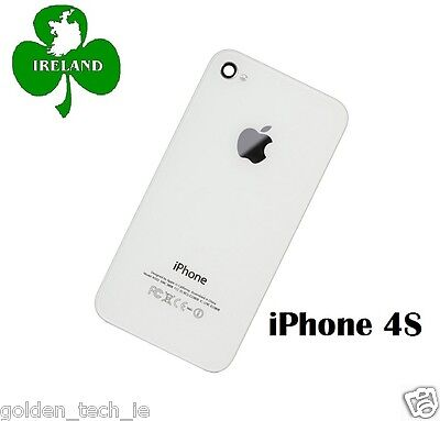 For iPhone 4S Back/Battery Cover Glass Plate Housing Replacement White New