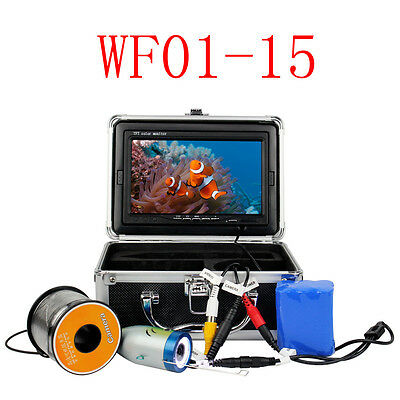 "7"" LCD 15M Underwater Video Camera System Fish Finder for Light Fishing Monitor"