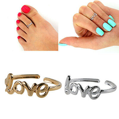 Fashion Simple Love Toe Ring Celebrity Open Adjustable Foot Beach Ring Jewelry