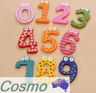15 PCS Wooden Fridge Refrigerator Magnets Kids Children Learn Decoration 123 Toy