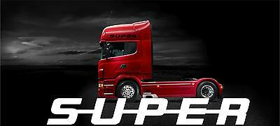 Scania super cab truck decals stickers pair for top of wagon