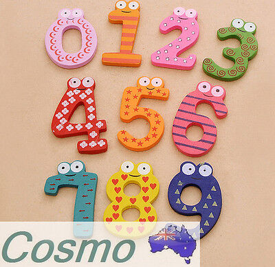 15 pcs 10 Number Refrigerator Magnets Kids Learn 123 Toy Decoration DIY