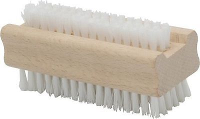 Wooden Brush Nail Scrubbing Manicure Cleaning Bristles Both Sides