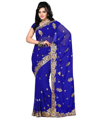 Bollywood Saree Indian Ethnic Party Wear Wedding Designer Sari With Blouse