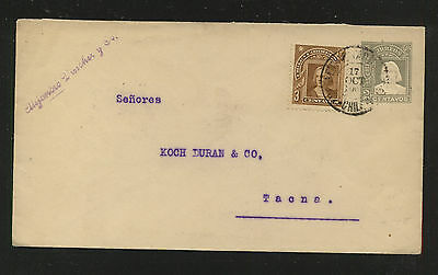 Chile  uprarted postal  envelope  local  use                      PS 0407