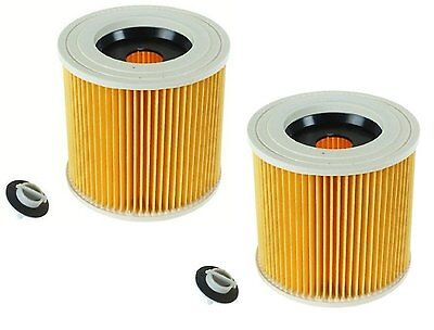 2 X Filters For Karcher Wd2.200 A2004 A2234Pt Vacuum Cleaner