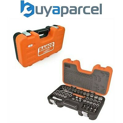 Bahco S530T 53 Piece Pass Through Socket Set 1/2 in, 1/4 in, 3/8 inch Drive