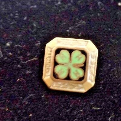 Vintage 4H Gold Fill Pin patent dated 1924 12mm square