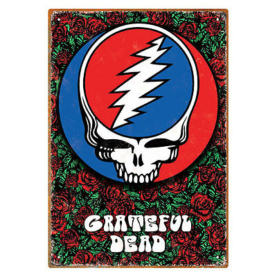 Grateful Dead Roses Steal Your Face Large Tin Sign