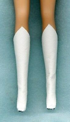Barbie Doll Boots - Hightop Snow White Genuine  Leather Clothes - Linhill