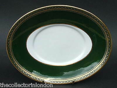 1960's Spode Park Lane Green Y7487 Pattern Gravy Sauce Boat Stand Only in VGC