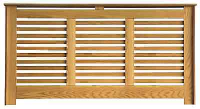 Slatted Front Radiator Cabinet/Cover Real Light Oak Veneer - All Sizes availible