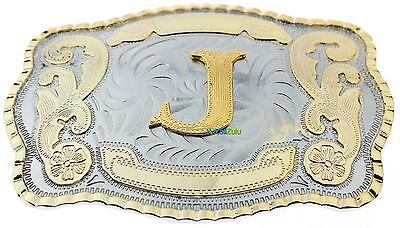 Initial Letter J Western Extra Large Rodeo Cowboy Belt Buckle
