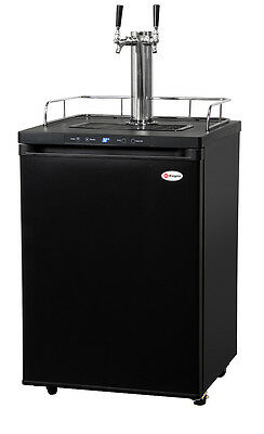 Kegerator Digital Draft Beer Cooler Dispenser - Double Faucet - D System