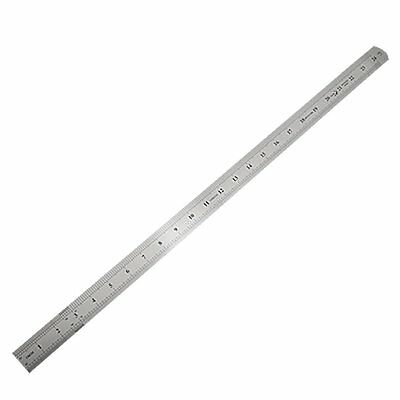 Stainless Steel 60cm 24.6 Inch Measuring Long Straight Ruler ED