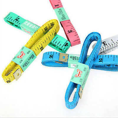 """5X Body Measuring Ruler Sewing Cloth Tailor Tape Measure Soft Flat 60"""" /150cm"""