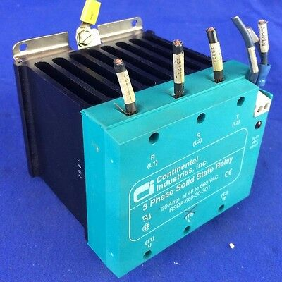 Continental Rsda-660-30-3D1 3Ph Solid State Relay 30A, 48-660Vac
