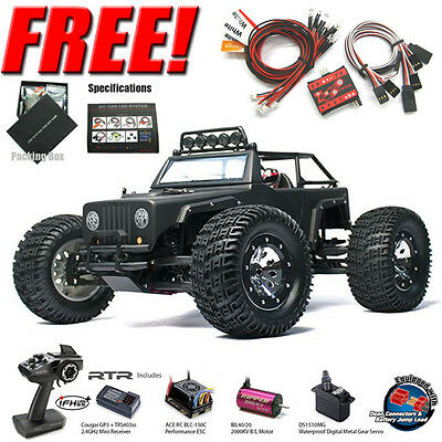 Thunder Tiger e-MTA Kaiser RTR 1/8 Monster Truck 4WD (BLACK) w/ Radio + Free Led