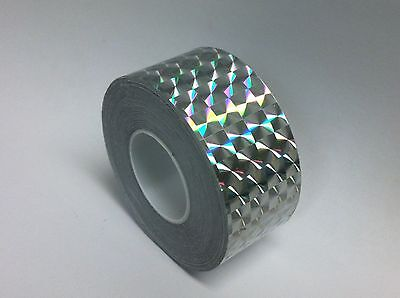 "Colored PRISM Tape, Choose Color & Size, Holographic 1/4"" Mosaic, Iridescent"