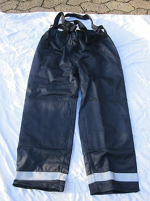 English Fire brigade Pants,Army, dark blue , Size Medium,Trouser Fireman Bunker