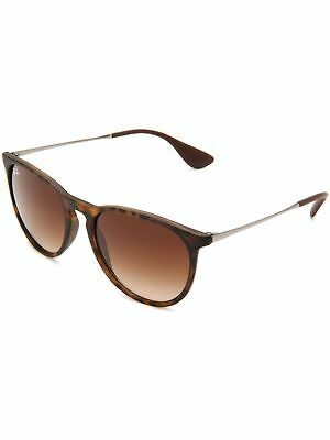 Ray-Ban Women's Gradient Erika RB4171-865/13-54 Brown Round Sunglasses