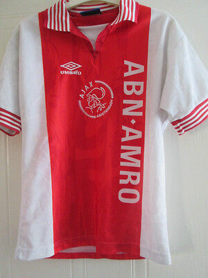 Ajax 1996-1997 Home Football Shirt Size Youths  /39288