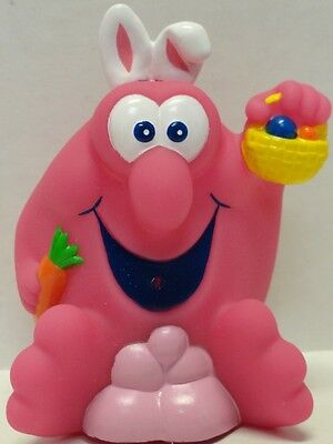 New~Mr Bubble~Bath Toy/figure~Rubber Water Squirter~Easter~Bunny~Basket~Egg~Rare
