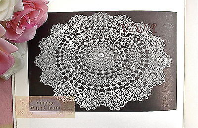 "Vintage Tatting Pattern Exquisite ""Fairy Ring"" Doily. Size About 16 Inches"